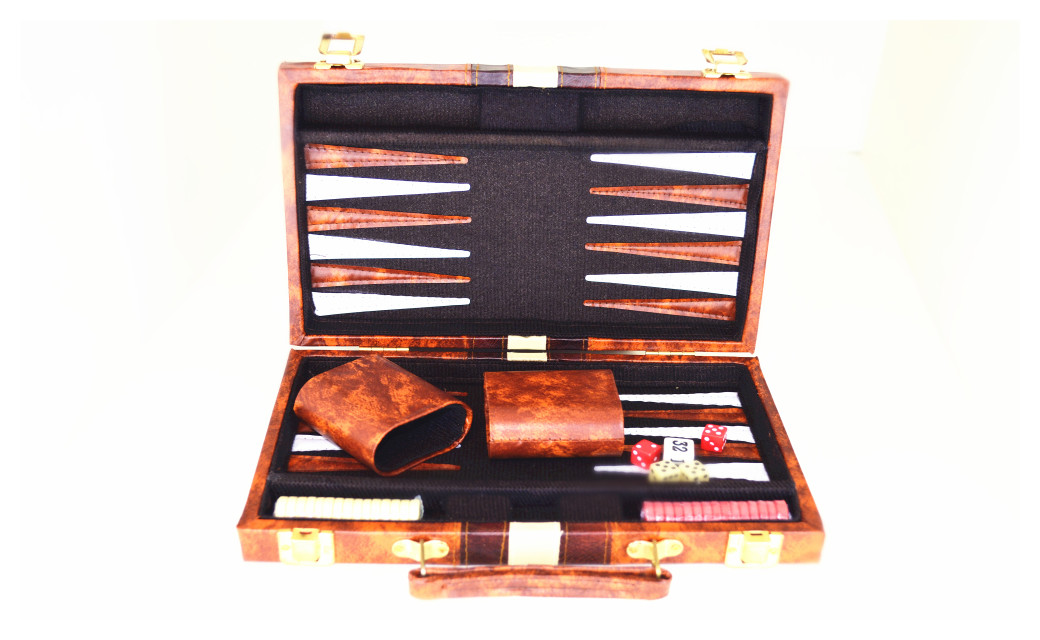"11"" Classic Backgammon Board Game Set by"