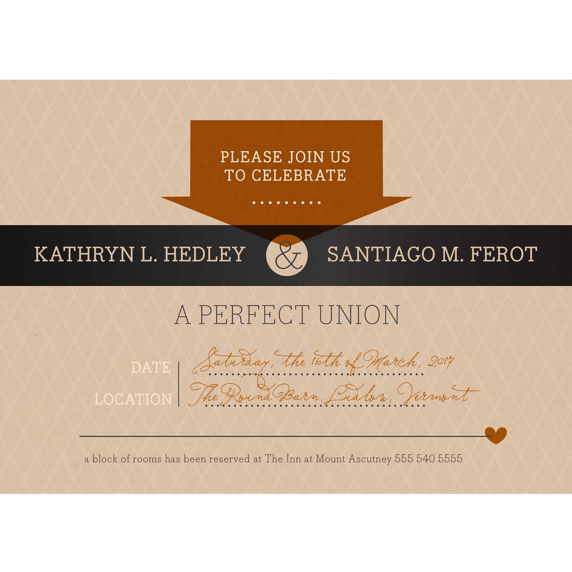 Rustic Tag Standard Wedding Invitation