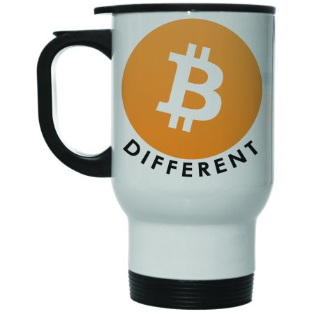 Bitcoin Be Different 12 Oz Hot Cold Travel Mug