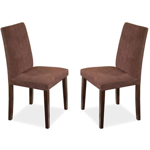 Imagio Home Lofts Collection Microfiber Parsons Side Chairs, Set Of 2,  Chocolate