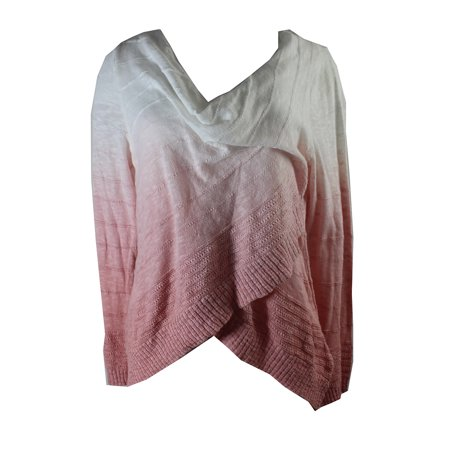Inc International Concepts Pink White Dip-Dye Crossover Pullover XL