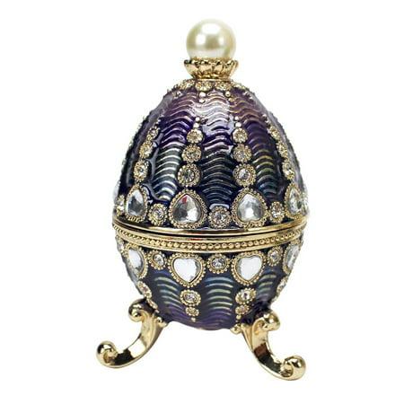 The Bogdana Collection Faberge-Style Enameled Egg: Valentina
