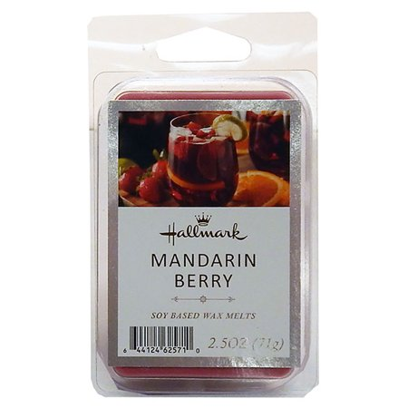 Hallmark Soy Based Wax Melts Tart Bar, 2.5oz Mandarin Berry