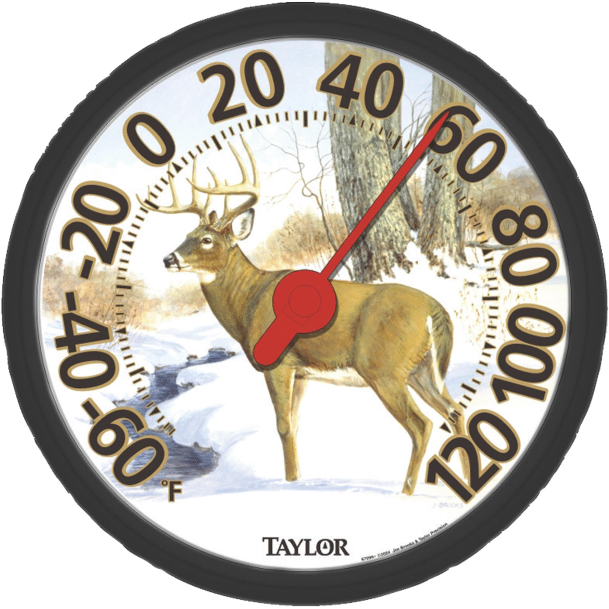 Image Gallery Deer Dial Outdoor Wall Thermometer