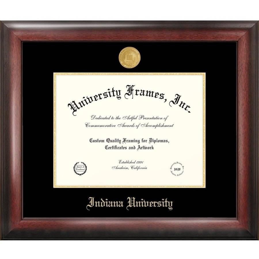 "Indiana University, Bloomington 8.5"" x 11"" Gold Embossed Diploma Frame"