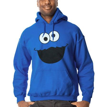e54b716f Sesame Street - Sesame Street Cookie Monster Face Adult Hoodie ...