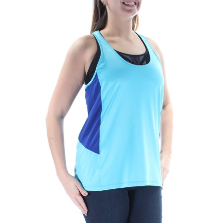 RALPH LAUREN Womens Blue Racerback Sleeveless Scoop Neck Active Wear Top  Size: - Back To School Wear