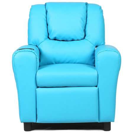 Kids Recliner Armchair Sofa Chair Couch Seat w/ Cup Holder Home Furniture Blue - image 10 de 10
