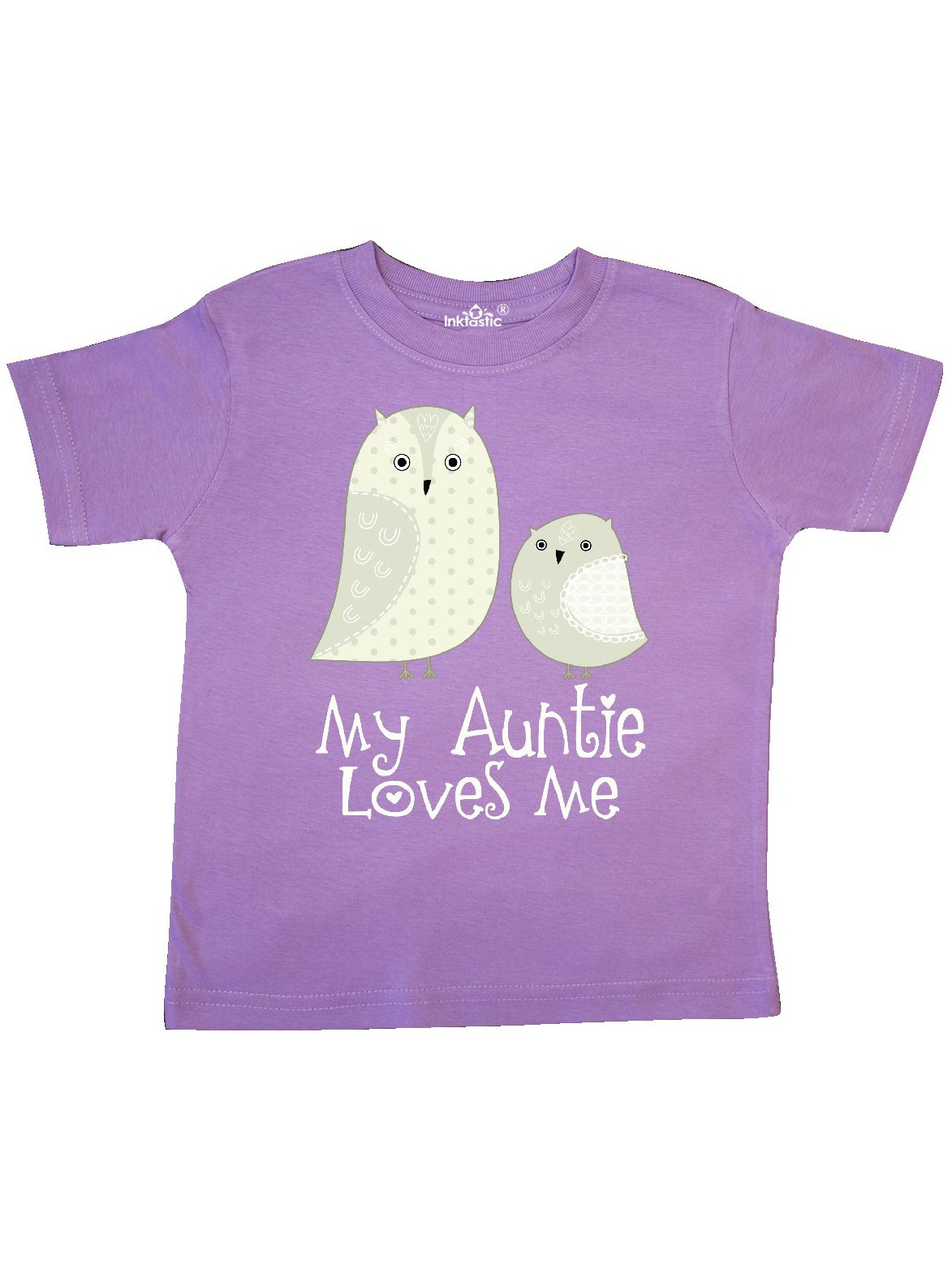 My Auntie Loves Me owl Toddler T-Shirt