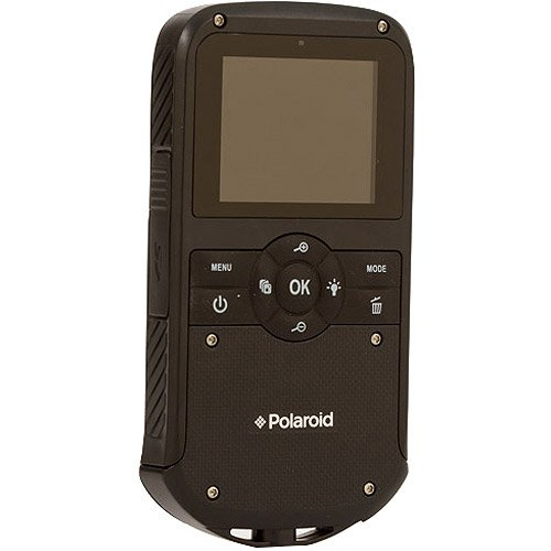 "Polaroid iD610 HD Water-Resistant Pocket Camcorder with 5x Optical Zoom and 2"" LCD"