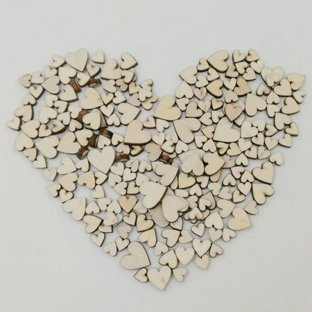 100pcs Sewing Craft Wooden Buttons Heart-shaped Design Buttons without Hole