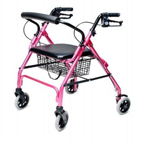 Lumex Walkabout Lite Four Wheel Rollator, Pink ()