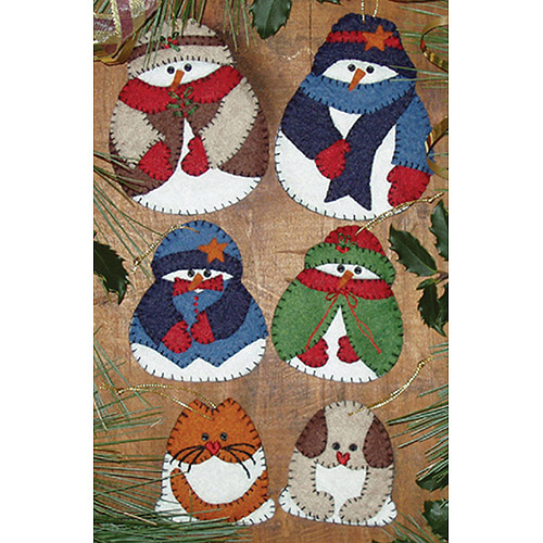 Snow Folk Ornament Kit-Set Of Six