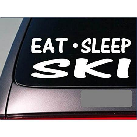 Eat Sleep Ski Sticker *H008* 8