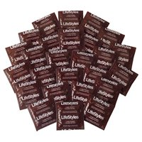 LIFESTYLES CONDOMS NON-LUBRICATED Bulk of 100