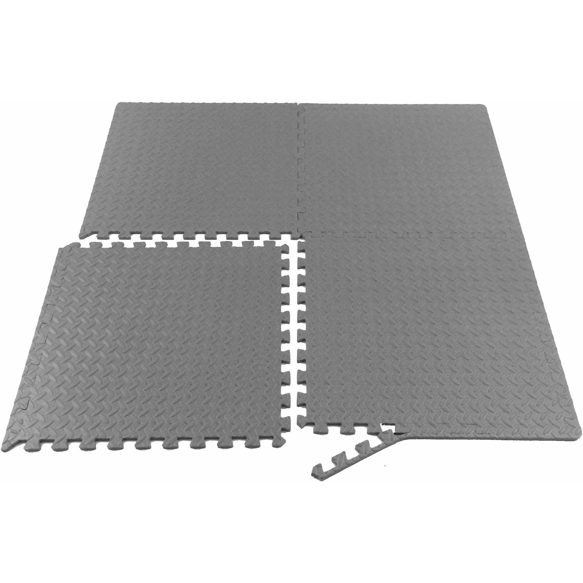 Floor mats for gym - Prosource Puzzle Exercise Mat Eva Foam Interlocking Tiles Walmart Com