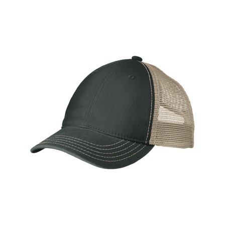 Mafoose Men's Super Soft Mesh Back Cap Black/ Khaki OSFA