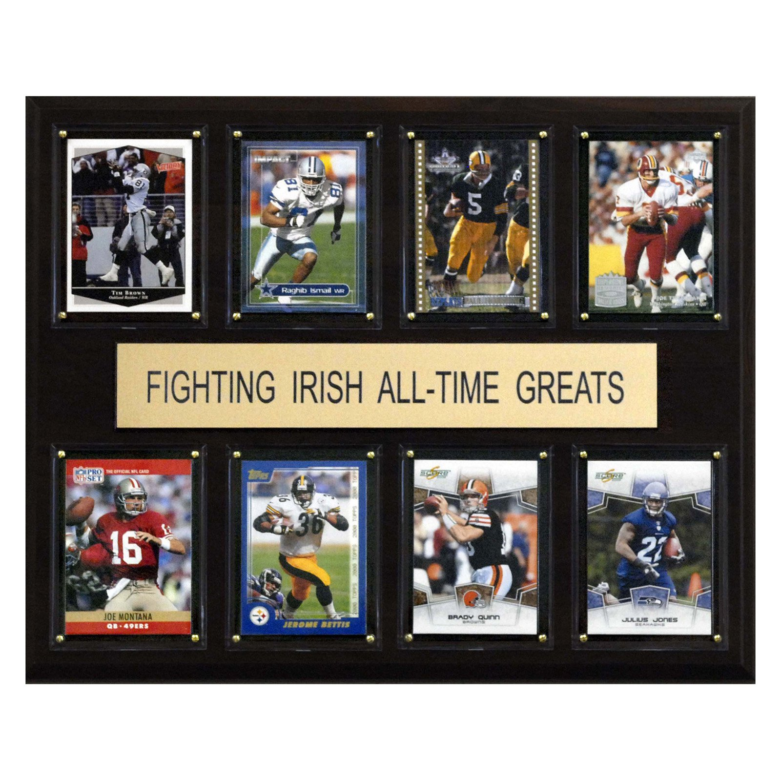 C&I Collectables NCAA Football 12x15 Notre Dame Fighting Irish All-Time Greats Plaque
