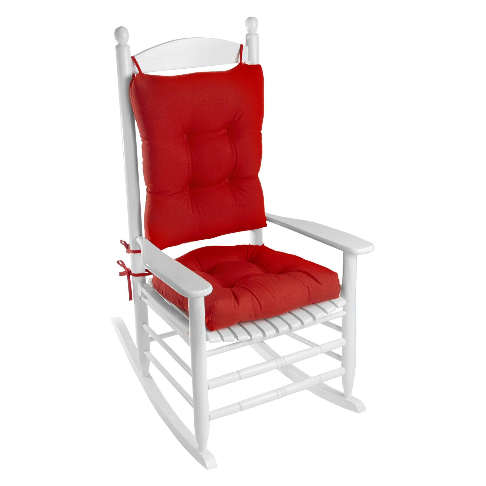 Image of: Porch Outdoor Indoor Red Rocking Chair Cushion Set Walmart Com Walmart Com