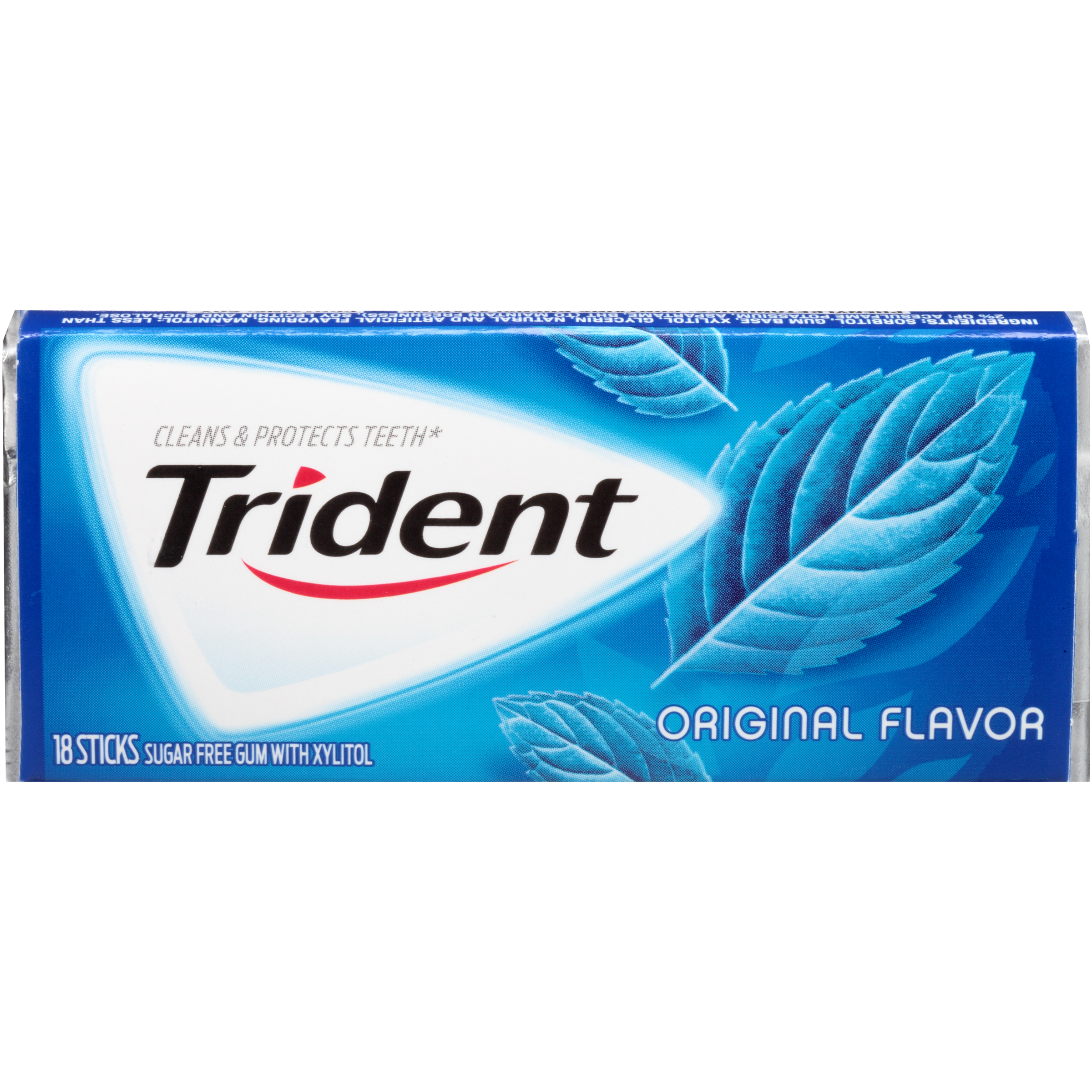 Trident Sugarless Chewing Gum Val-U-Pak Original - 12 X 18 Stick Pack