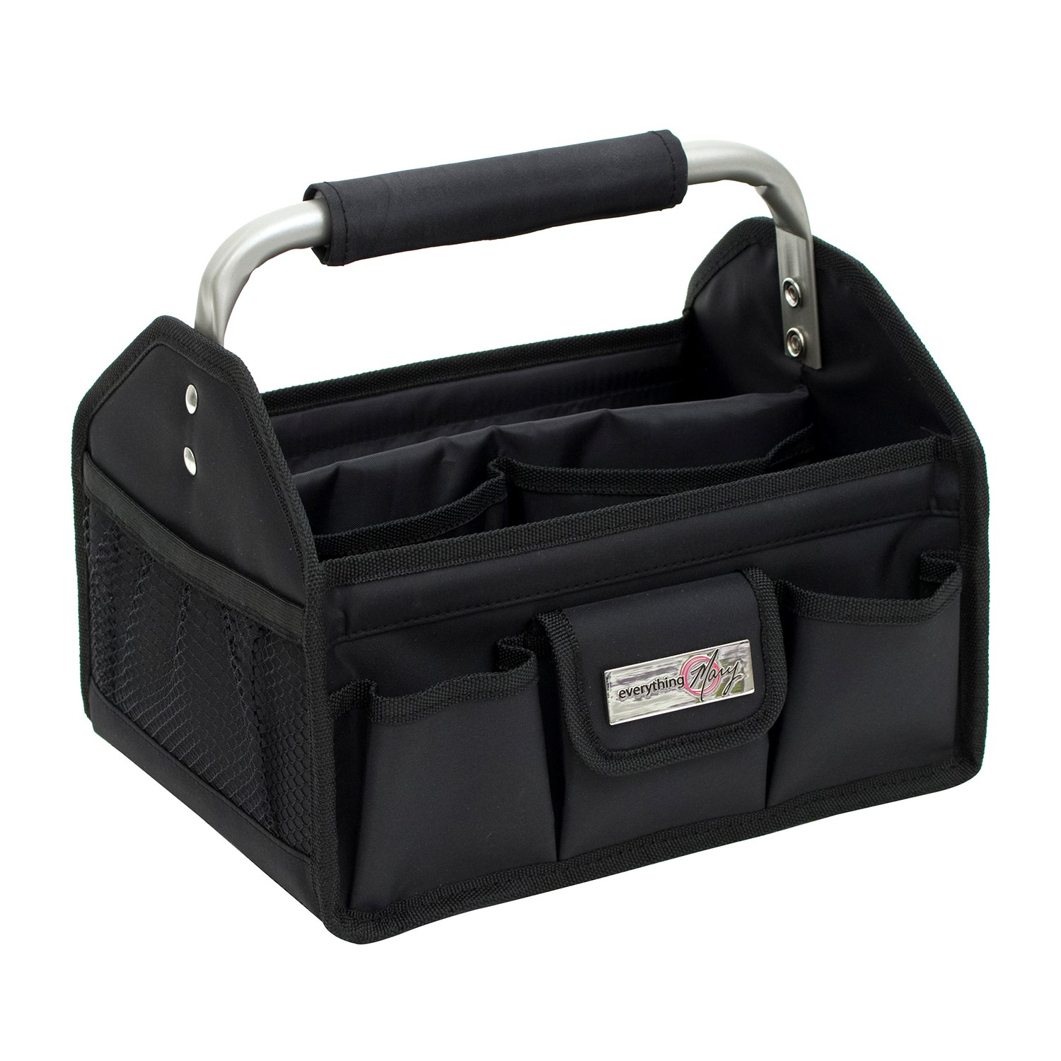 Everything Mary Black Craft Tool Box with Metal Handle by EVERYTHING MARY LLC