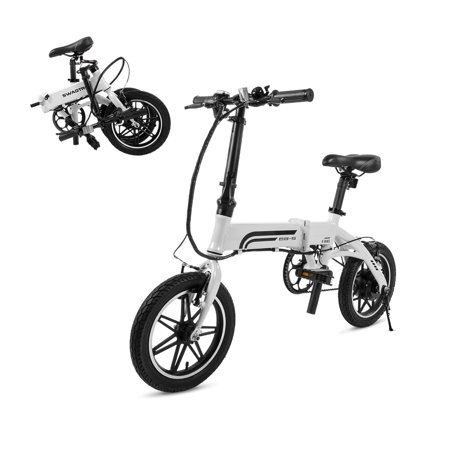 SWAGTRON EB-5 Lightweight Aluminum Folding Electric Bike with Pedals and Power Assist (Brompton Folding Bicycle)