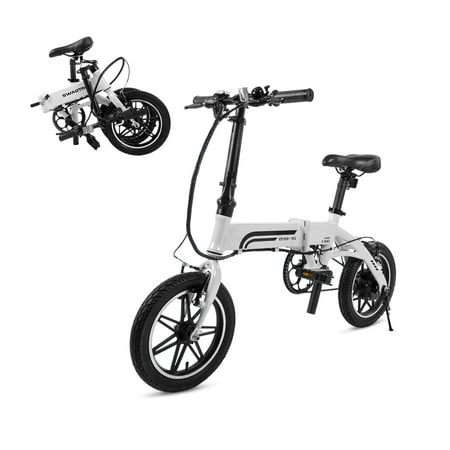 Swagtron EB5 Lightweight Folding Electric Bike with Pedals & Power Assist