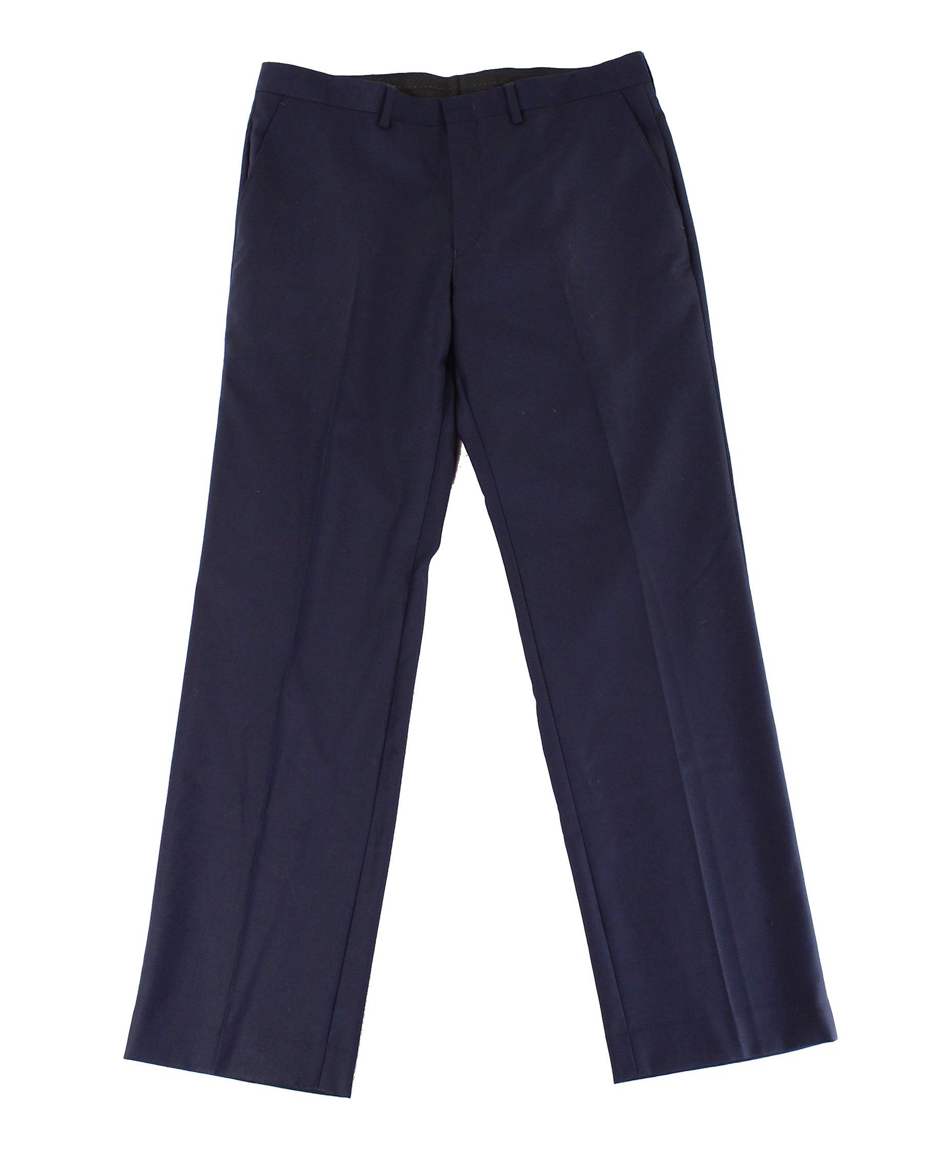 Ryan Seacrest Distinction 30X30 Dress Flat Front Wool Pants