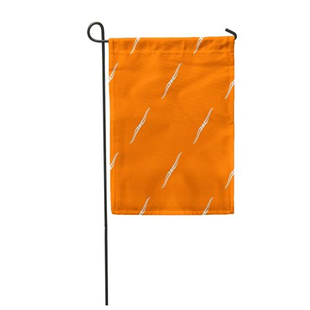 LADDKE Silver Ancient Throwing Ninja Knife Pattern in Orange Color for Any Geometric Arm Garden Flag Decorative Flag House Banner 12x18 inch (Throwing Arm)