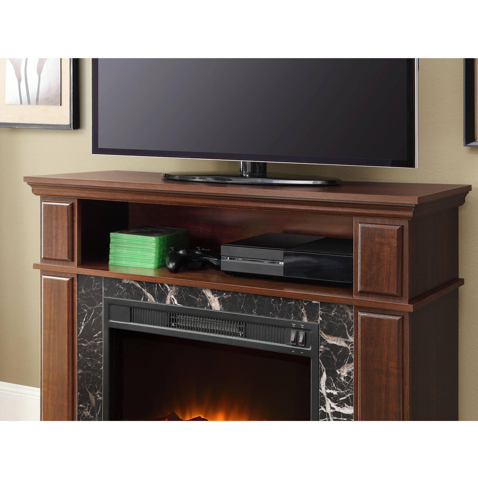 mesa stand with insert fireplace media tv entertainment contemporary pin furniture pine center distressed