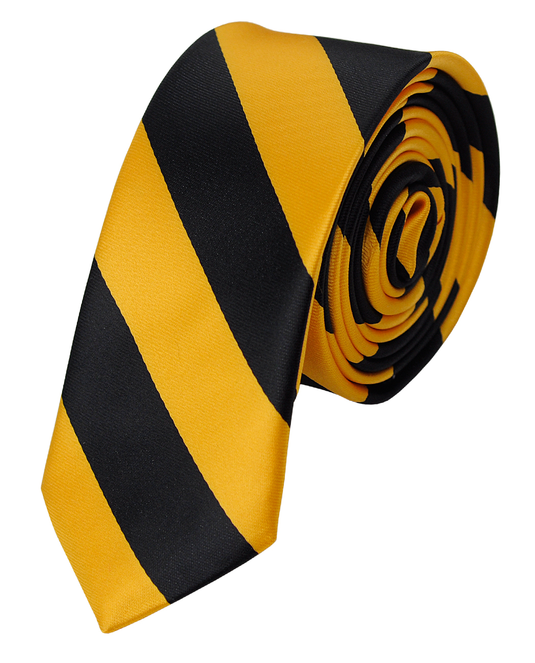 "NYFASHION101 Men's 2"" Skinny College Stripe Woven Tie, Red/White"