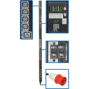 - Tripp Lite PDU 3-Phase Switched 240V 18kW C13 C19 IEC309 30A Red 0URM - 24 x IEC 60320 C13, 6 x IEC 60320 C19 - 18 kVA - 0U Vertical Rackmount