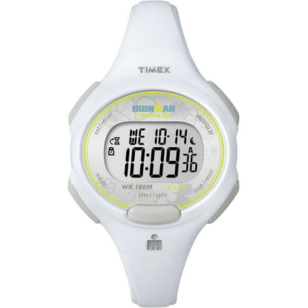 Timex Women's Ironman Essential 10 Mid-Size Watch, White Resin Strap ()