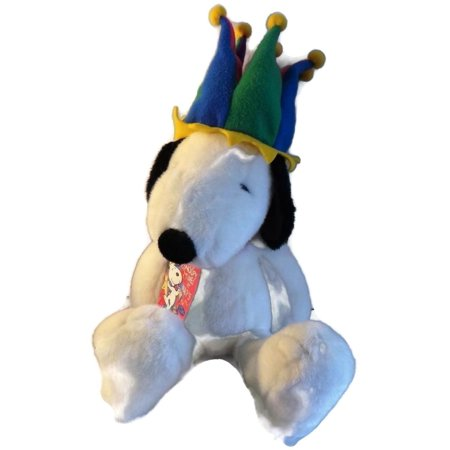 Snoopy Millennium Plush with Fleece Jester Hat Macy's Limited Edition 1999, Its Snoopy Time at Macy's Countdown to the Millennium collectible plush! By Peanuts from USA (Snoopy Hat)