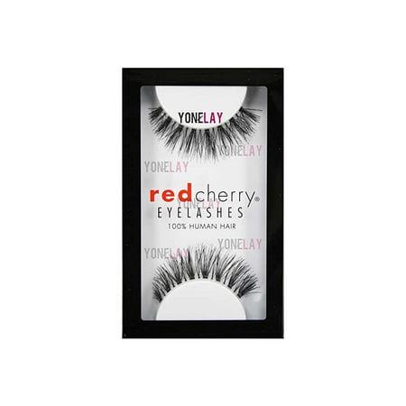 #523 False Eyelashes (Pack of 6 Pairs), 100% human hair By Red Cherry (Red Cherry Eyelashes 6 Pairs)