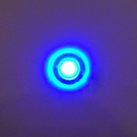 RecPro ROUND BLUE LED LIVEWELL COURTESY LIGHT MARINE BOAT RV 12V WATERPROOF By PerFit Ship from