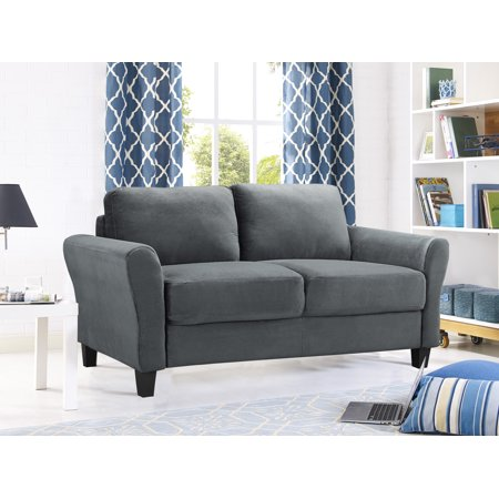 Lifestyle Solutions Alexa Rolled-Arm Upholstered Fabric Loveseat, Multiple (Lifestyle Solutions Bedroom Bed)