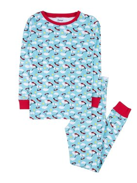 Leveret Kids Pajamas Boys Girls 2 Piece pjs Set 100% Cotton (Parachute, Size 8 Years)