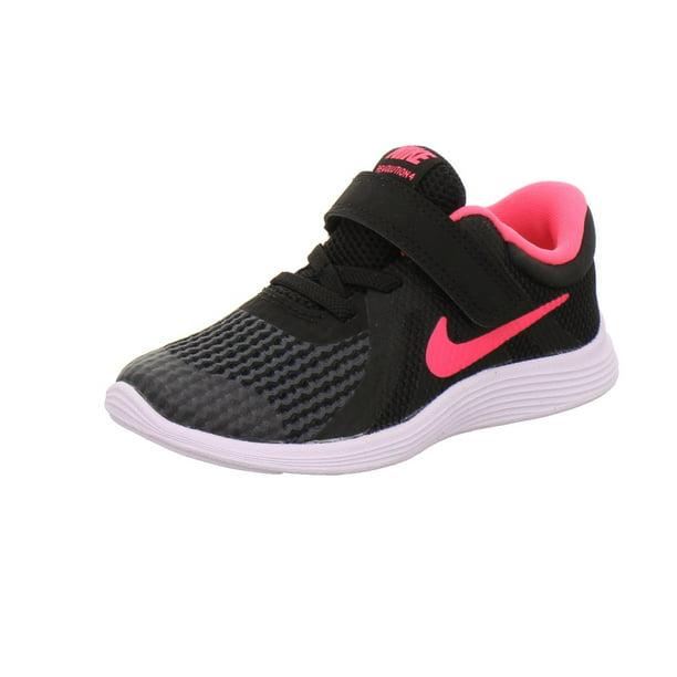 cumpleaños huella dactilar Suavemente  Nike - Nike 943308-004: Baby Girls Revolution 4 Black/Racer Pink/White  Running Sneaker (6 M US Toddler) - Walmart.com - Walmart.com