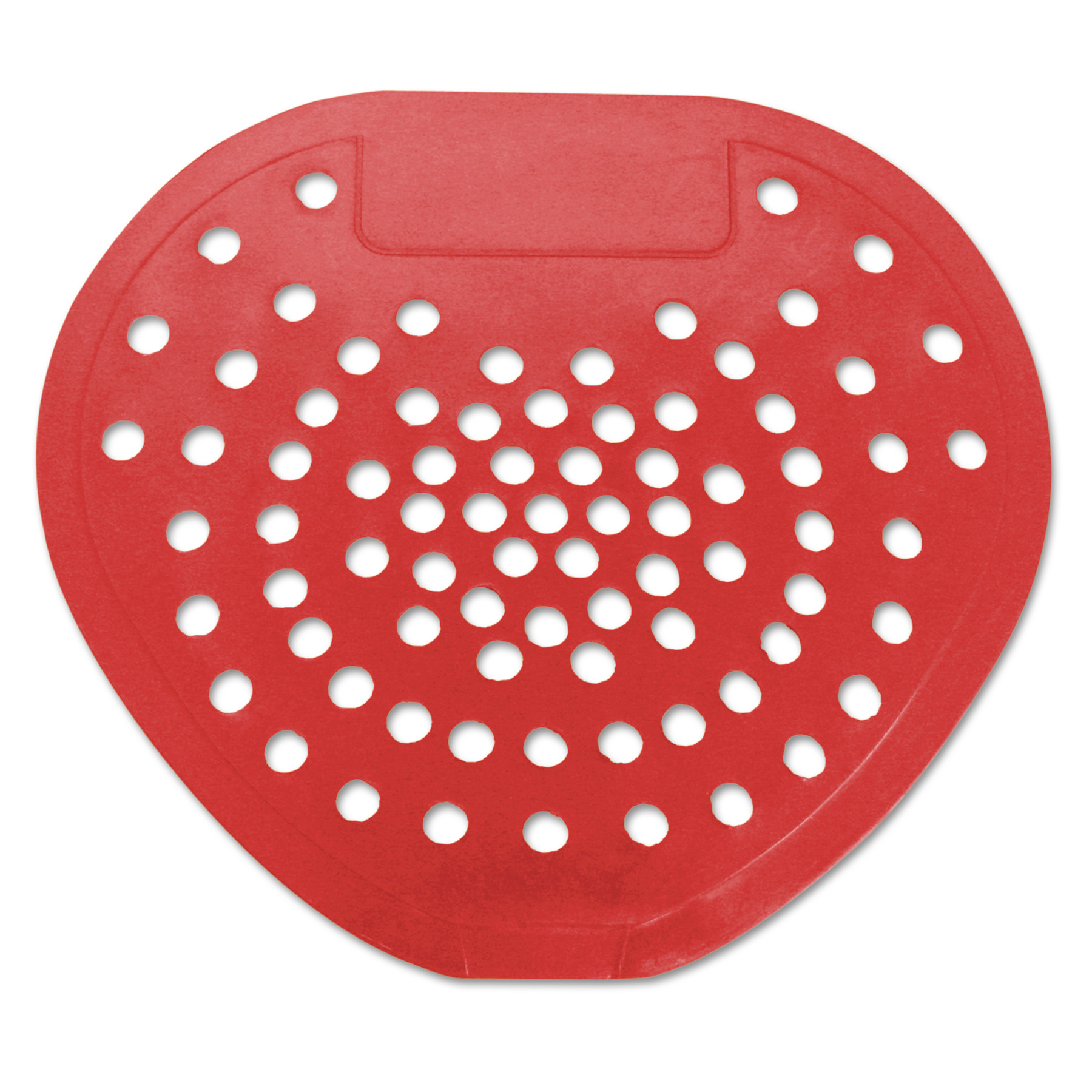 "HOSPECO Health Gards Vinyl Urinal Screen, 7 3/4""w x 6 7/8""h, Red, Cherry, Dozen"