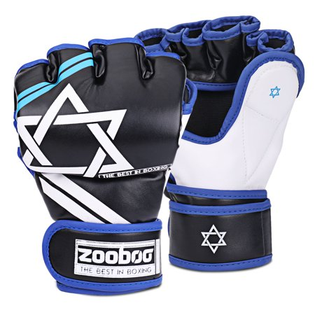 MMA Grappling Gloves - Muay Thai Training Punching Bag Mitts Kickboxing Fighting Protective Hand Gear Accessories Supplies with Bag for Mixed Martial Arts Combat Sports Gym UFC
