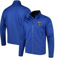San Jose Earthquakes Antigua Golf Full-Zip Jacket - Blue