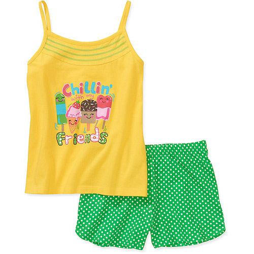 Faded Glory - Little Girls' 2 Piece Tank and Short Set