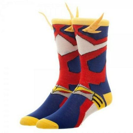 My Hero Academia Cosplay Mens Crew Socks 3D Wings