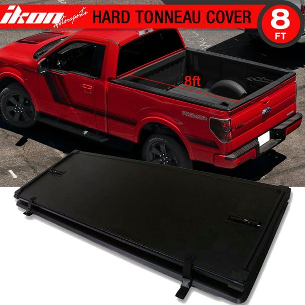 Compatible With 09 14 F 150 Wo Utility Track Tri Fold Lock Hard Solid Tonneau Cover 96inch Walmart Com Walmart Com