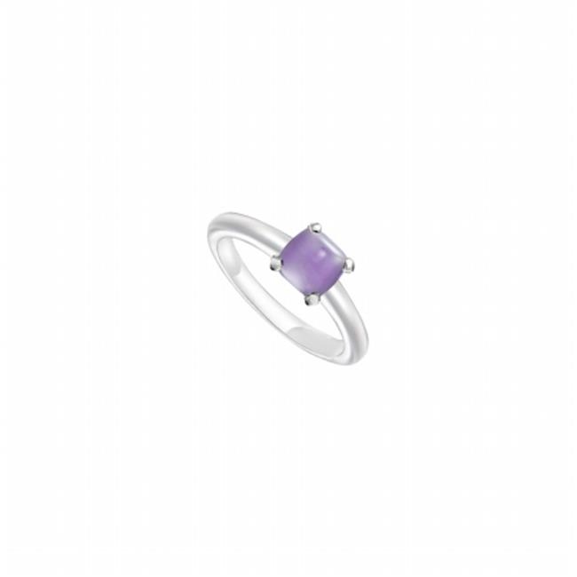 Fine Jewelry Vault UBLRCW14ZBU-101RS8 Blue Chalcedony Ring 14K White Gold, 5.00 CT Size 8 by Fine Jewelry Vault