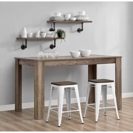Dhp Fusion 24 Quot Metal Backless Counter Stool With Wood Seat
