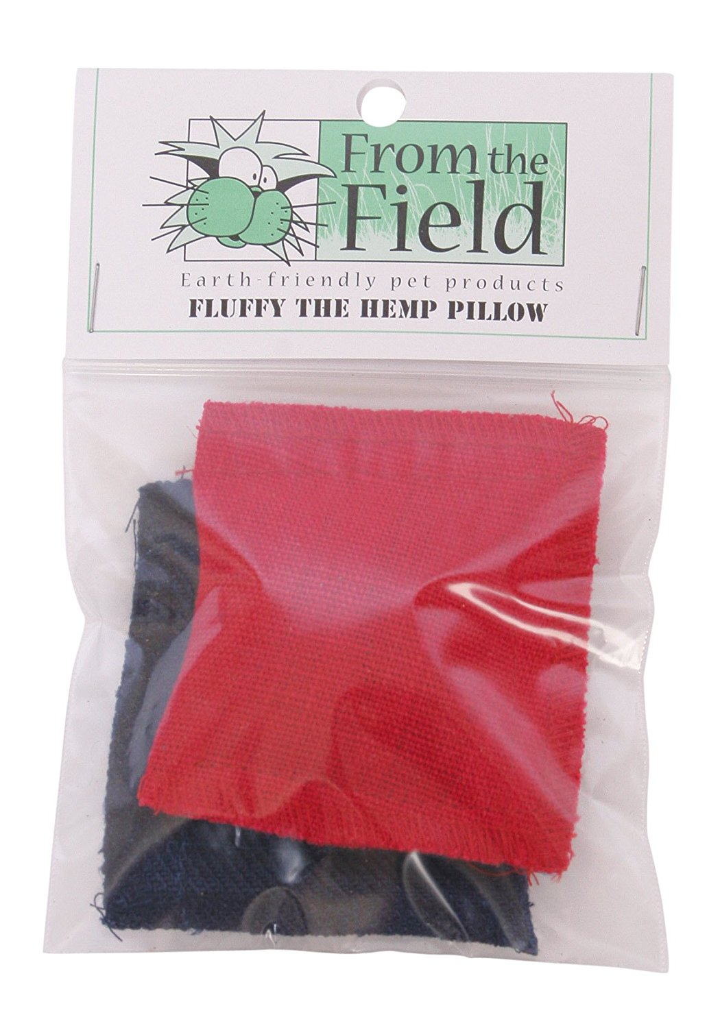 2-Pack Fluffy The Hemp Pillow Catnip Toy, Made in USA By From The Field by