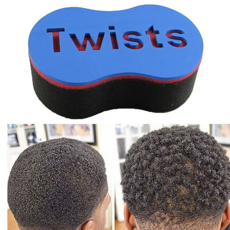 Afro Hair Sponge Twists Barber Hair Styling Tool with Big Holes for Natural Twists Curls Coils