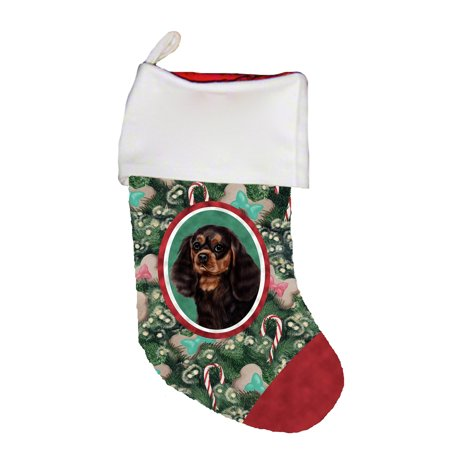 Cavalier King Charles Cotton Stockings - Cavalier King Charles Black/Tan - Best of Breed Dog Breed Christmas Stocking